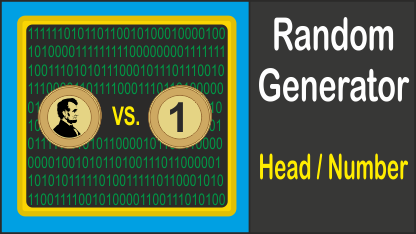 Random Generator Coin Head Number