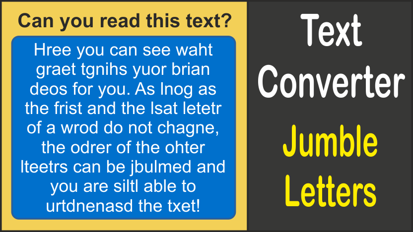 description: text converter - jumble letters