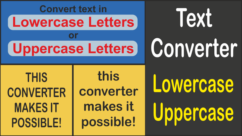 Converter lowercase uppercase letters